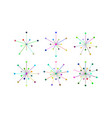 snowflakes of multicolored lines and circles vector image