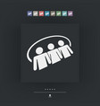 social network icon 3d vector image