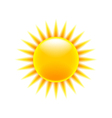 Sun icon isolated on white vector image vector image