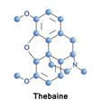 thebaine opiate alkaloid vector image vector image