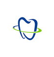 tooth dentist abstract medic logo vector image vector image