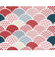 traditional geometric kimono pattern sketch line vector image vector image