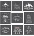 travel postcards set of tourism banners with hand vector image vector image
