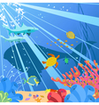 underwater sealife vector image