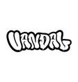 vandal graffiti vector image vector image