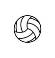 volleyball ball black vector image