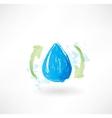 Water arrows grunge icon vector image vector image