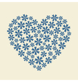 Blue heart flower bouquet icon vector image
