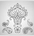 paisley ornament hand drawing vector image