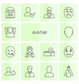 14 avatar icons vector image vector image