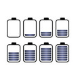 a set of eight batteries vector image vector image