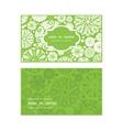 abstract green and white circles horizontal frame vector image