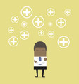 african businessman positive thinking vector image