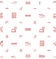airport icons pattern seamless white background vector image vector image