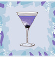 aviation low-alcohol cocktail maraschino vector image