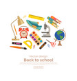 Back to school colorful concept