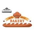 Bakery shop emblem or logo in two color variants vector image vector image