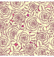 beautiful vintage seamless pattern made of roses vector image vector image