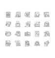 business contracts line icons signs set vector image vector image