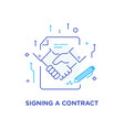 businessmen shaking hands cooperation interaction vector image