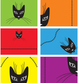 Card with a black cat vector image vector image