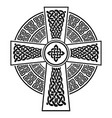 celtic style cross with eternity knots vector image vector image