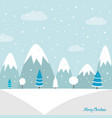 christmas woodland background vector image