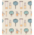 Cosmetics seamless pattern hand drawn Scin care vector image vector image
