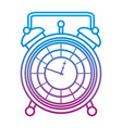 degraded line luxury desk clock object design vector image