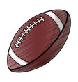 drawing amerian football ball equipment vector image