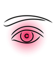 Eye pain vector image