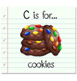 Flashcard alphabet c is for cookies vector image vector image