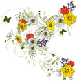 floral graphic vector image vector image