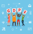 gdpr concept idea of data protection vector image