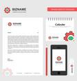 gear business letterhead calendar 2019 and mobile vector image vector image