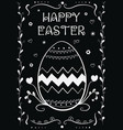 happy easter vintage hand drown greeting card vector image vector image