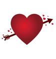 heart shape with an arrow vector image