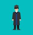 high school graduate flat style vector image