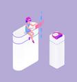 interactive reality woman vector image vector image