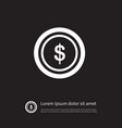 isolated chip icon dollar element can be vector image vector image
