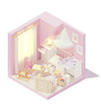 isometric children and baby room vector image