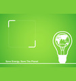 line art of a light bulb with earth globe in it vector image