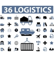 logistics signs vector image vector image
