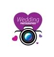 logo wedding photographer vector image vector image