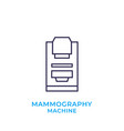 mammography machine icon linear vector image