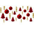 merry christmas background with balls vector image