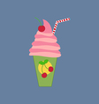 Milkshake drink cocktail icon vector image