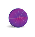 modern purple basketball ball template sport vector image