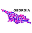 mosaic georgia map of square elements vector image vector image