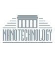 nanotechnology logo simple gray style vector image vector image